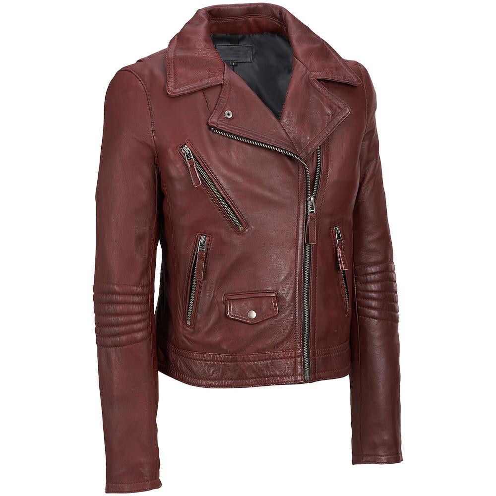 Biker Jacket - Men Real Lambskin Leather Jacket KM114 - Koza Leathers