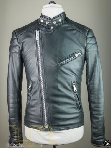 Biker Jacket - Men Real Lambskin Leather Jacket KM116 - Koza Leathers