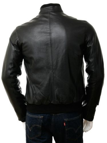 Biker Jacket - Men Real Lambskin Leather Jacket KM119 - Koza Leathers