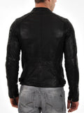 Biker Jacket - Men Real Lambskin Leather Jacket KM124 - Koza Leathers