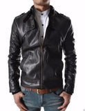 Biker Jacket - Men Real Lambskin Leather Jacket KM129 - Koza Leathers