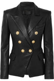 Koza Leathers Women's Real Lambskin Leather Blazer BW065