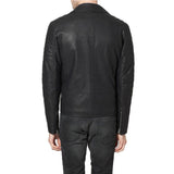 Biker Jacket - Men Real Lambskin Motorcycle Leather Biker Jacket KM310 - Koza Leathers