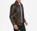 Biker Jacket - Men Real Lambskin Motorcycle Leather Biker Jacket KM151 - Koza Leathers