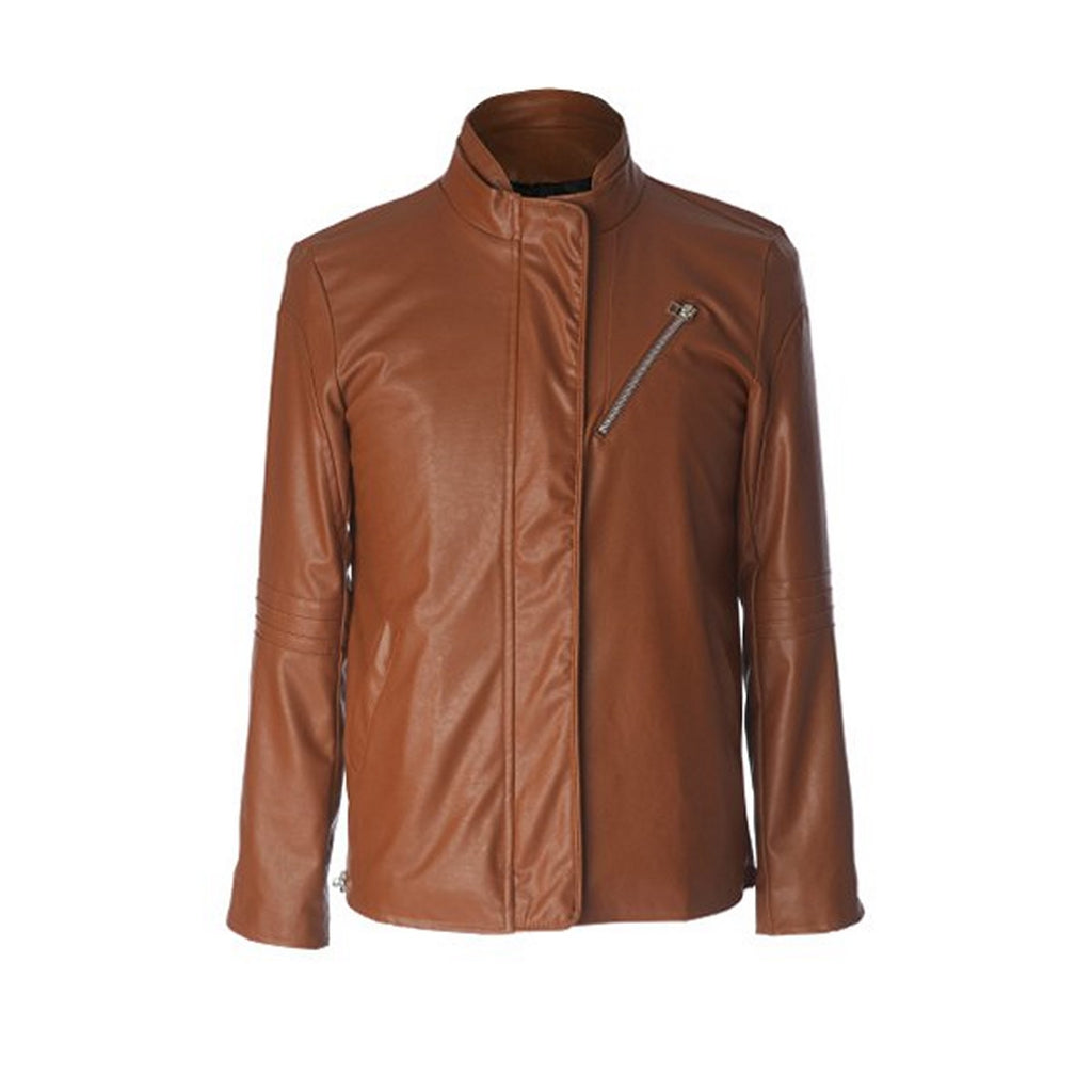 Biker Jacket - Men Real Lambskin Motorcycle Leather Biker Jacket KM573 - Koza Leathers