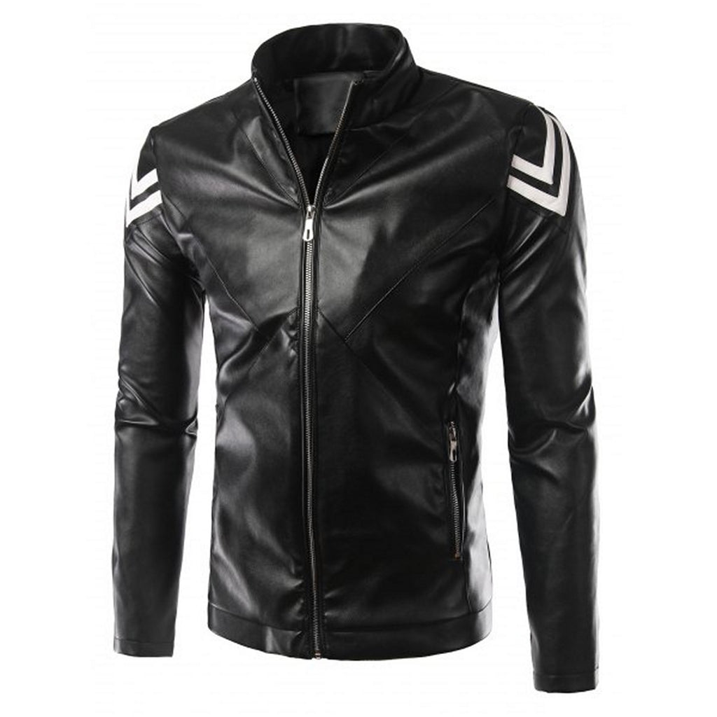 Biker Jacket - Men Real Lambskin Motorcycle Leather Biker Jacket KM575 - Koza Leathers