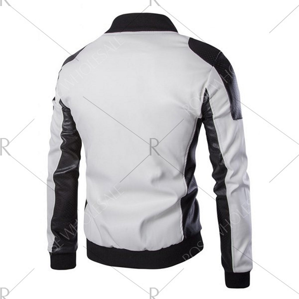 Biker Jacket - Men Real Lambskin Motorcycle Leather Biker Jacket KM576 - Koza Leathers