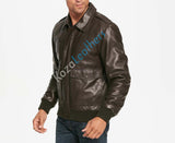 Biker Jacket - Men Real Lambskin Motorcycle Leather Biker Jacket KM161 - Koza Leathers