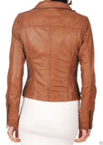 Biker / Motorcycle Jacket - Women Real Lambskin Leather Jacket KW015 - Koza Leathers