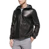 Biker Jacket - Men Real Lambskin Motorcycle Leather Biker Jacket KM327 - Koza Leathers