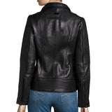Biker / Motorcycle Jacket - Women Real Lambskin Leather Biker Jacket KW461 - Koza Leathers