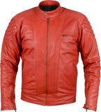 Biker Jacket - Men Real Lambskin Motorcycle Leather Biker Jacket KM399 - Koza Leathers
