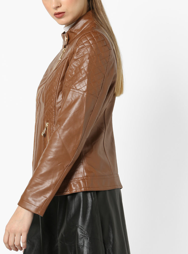 Biker / Motorcycle Jacket - Women Real Lambskin Leather Biker Jacket KW576 - Koza Leathers