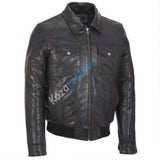 Biker Jacket - Men Real Lambskin Motorcycle Leather Biker Jacket KM164 - Koza Leathers