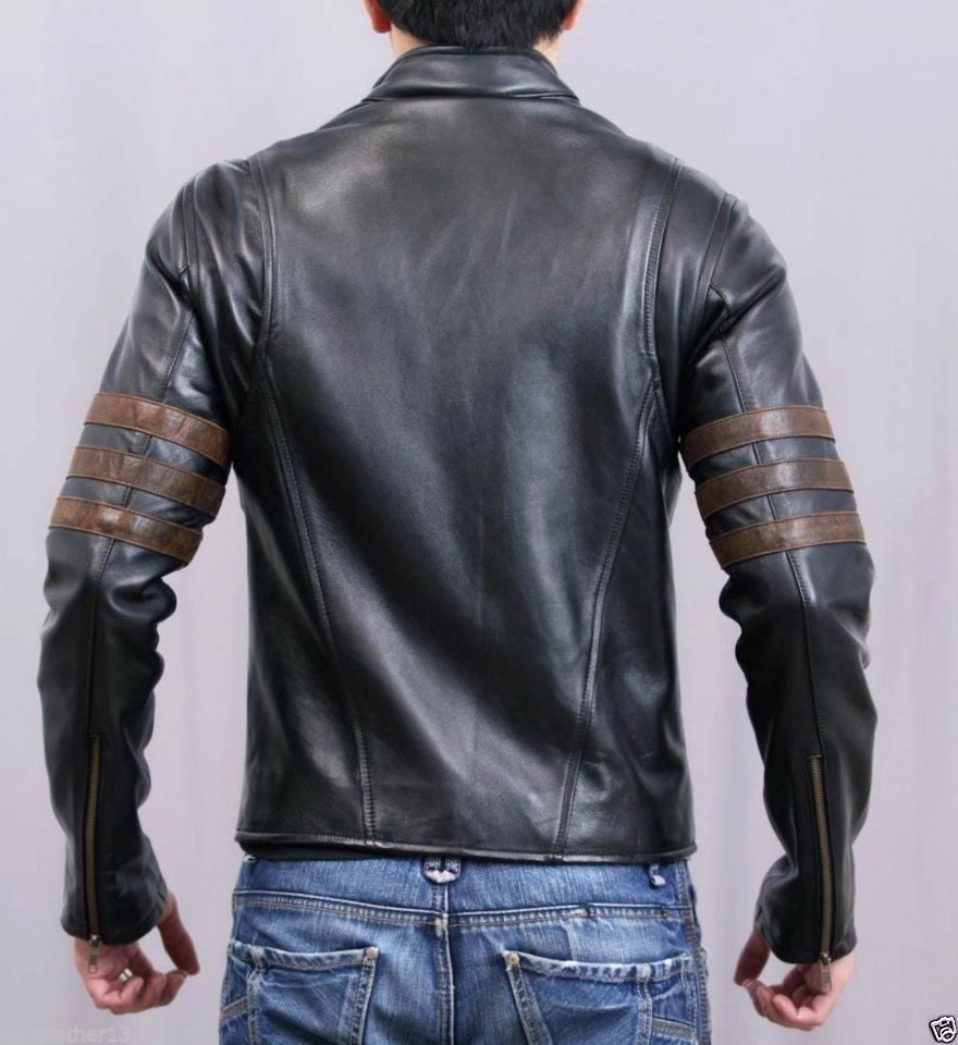 Biker Jacket - Men Real Lambskin Leather Jacket KM014 - Koza Leathers