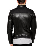 Biker Jacket - Men Real Lambskin Motorcycle Leather Biker Jacket KM330 - Koza Leathers