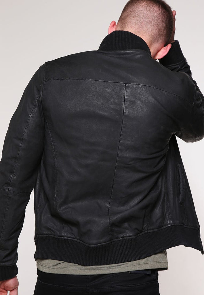 Biker Jacket - Men Real Lambskin Motorcycle Leather Biker Jacket KM253 - Koza Leathers