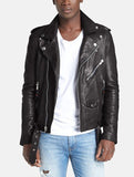Biker Jacket - Men Real Lambskin Leather Jacket KM024 - Koza Leathers