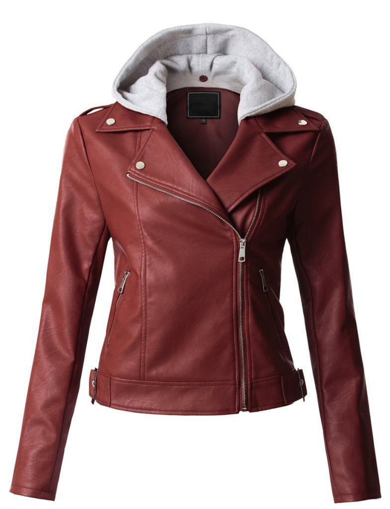 Biker / Motorcycle Jacket - Women Real Lambskin Leather Biker Jacket KW302 - Koza Leathers