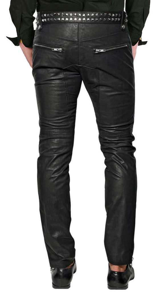 Koza Leathers Men's Real Lambskin Leather Pant MP037