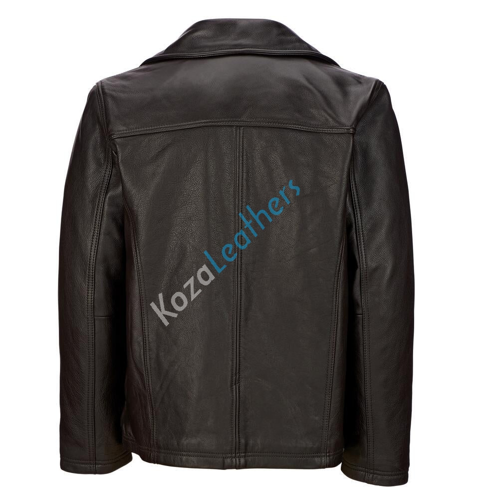 Koza Leathers Men's Genuine Lambskin Bomber Leather Jacket NJ015