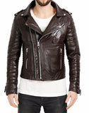 Biker Jacket - Men Real Lambskin Leather Jacket KM021 - Koza Leathers