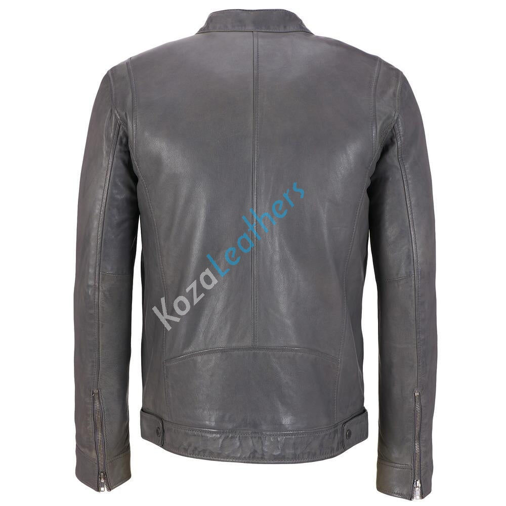 Koza Leathers Men's Genuine Lambskin Bomber Leather Jacket NJ016