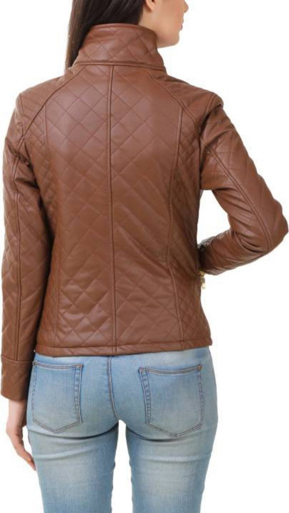 Biker / Motorcycle Jacket - Women Real Lambskin Leather Biker Jacket KW398 - Koza Leathers