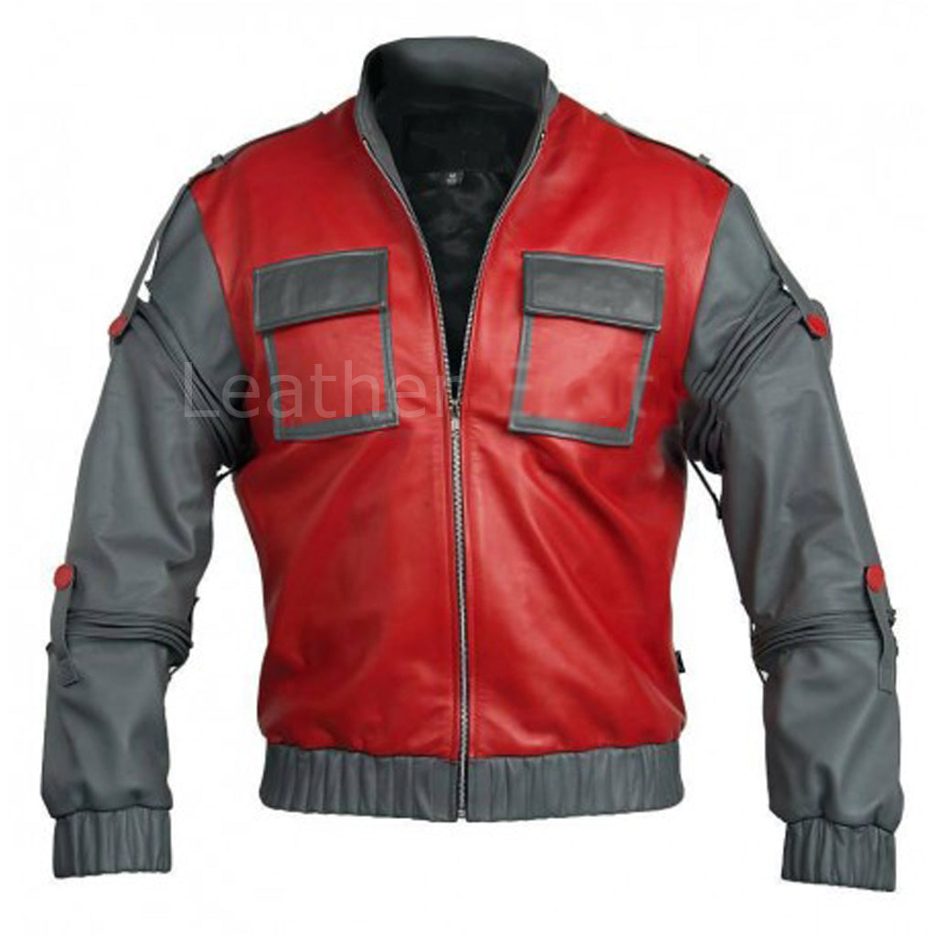 Biker Jacket - Men Real Lambskin Motorcycle Leather Biker Jacket KM311 - Koza Leathers