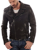 Men Real Lambskin Leather Jacket KM004