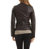 Biker / Motorcycle Jacket - Women Real Lambskin Leather Biker Jacket KW464 - Koza Leathers
