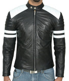 Biker Jacket - Men Real Lambskin Leather Jacket KM025 - Koza Leathers