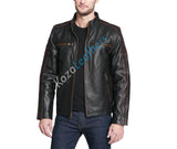 Koza Leathers Men's Genuine Lambskin Bomber Leather Jacket NJ019