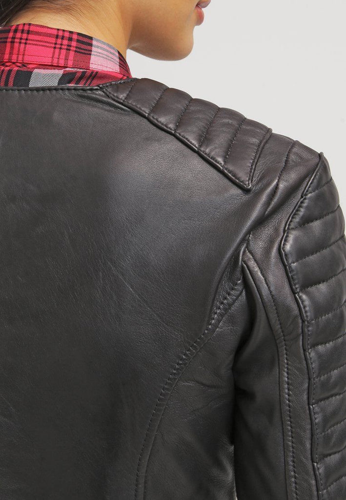 Biker / Motorcycle Jacket - Women Real Lambskin Leather Jacket KW018 - Koza Leathers