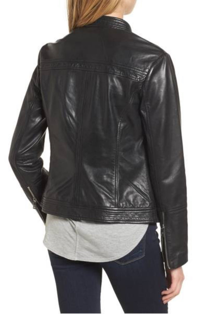 Biker / Motorcycle Jacket - Women Real Lambskin Leather Biker Jacket KW309 - Koza Leathers