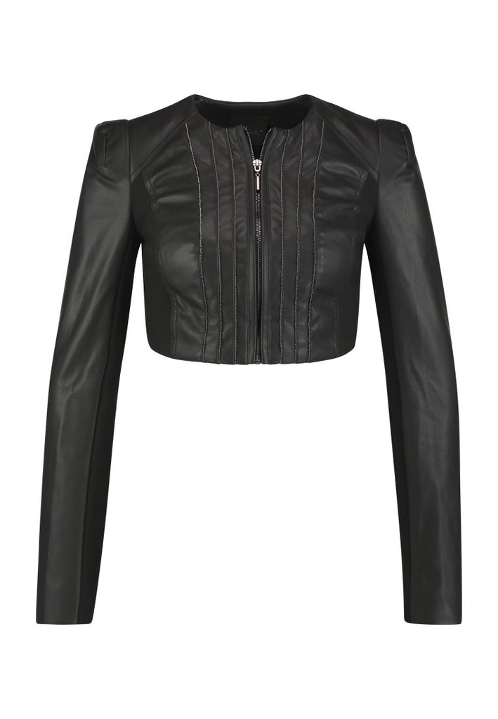 Biker / Motorcycle Jacket - Women Real Lambskin Leather Biker Jacket KW219 - Koza Leathers