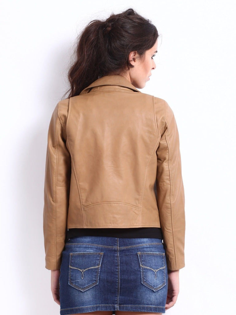Biker / Motorcycle Jacket - Women Real Lambskin Leather Biker Jacket KW043 - Koza Leathers