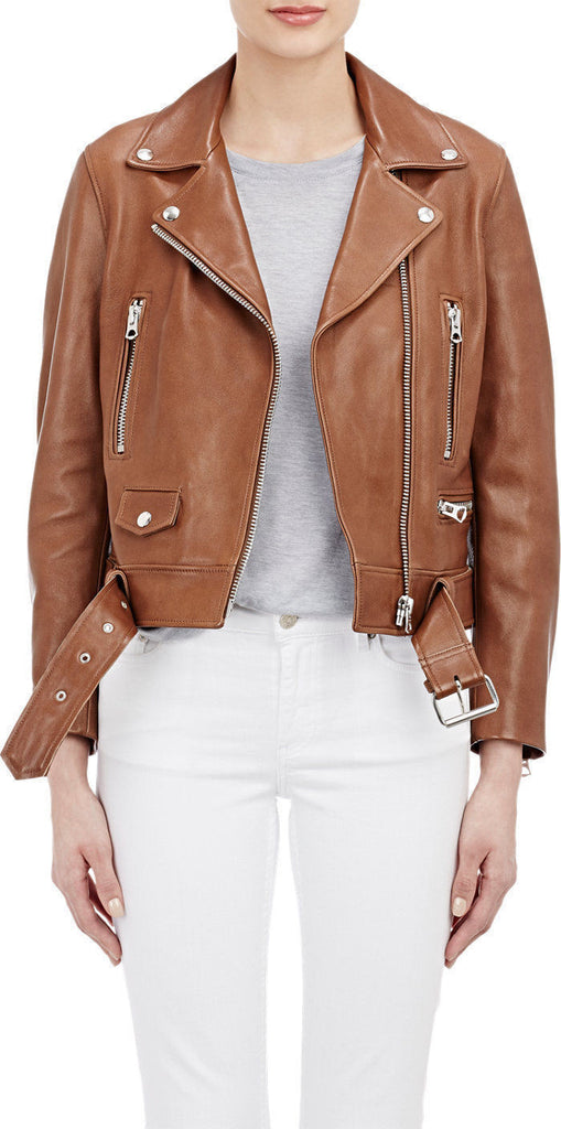 Biker / Motorcycle Jacket - Women Real Lambskin Leather Jacket KW019 - Koza Leathers
