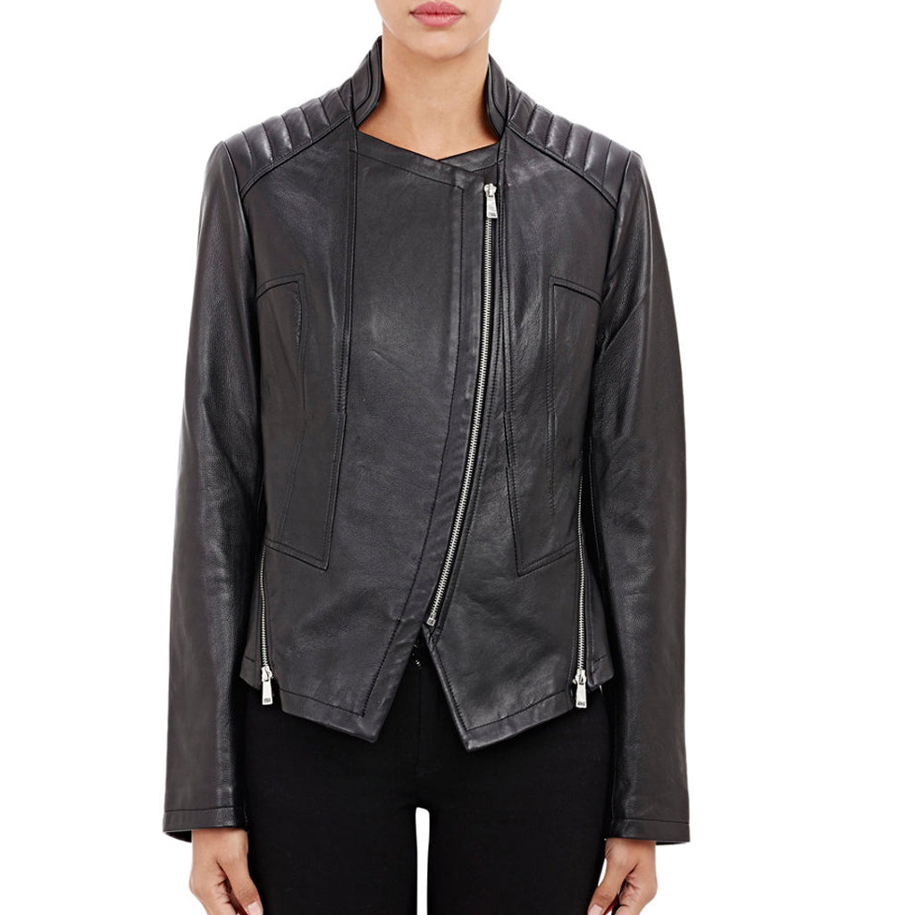 Biker / Motorcycle Jacket - Women Real Lambskin Leather Biker Jacket KW466 - Koza Leathers
