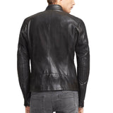 Biker Jacket - Men Real Lambskin Motorcycle Leather Biker Jacket KM334 - Koza Leathers