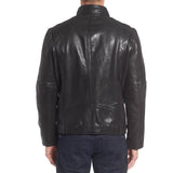 Biker Jacket - Men Real Lambskin Motorcycle Leather Biker Jacket KM335 - Koza Leathers