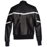 Biker Jacket - Men Real Lambskin Motorcycle Leather Biker Jacket KM336 - Koza Leathers