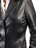 Koza Leathers Women's Real Lambskin Leather Blazer BW056