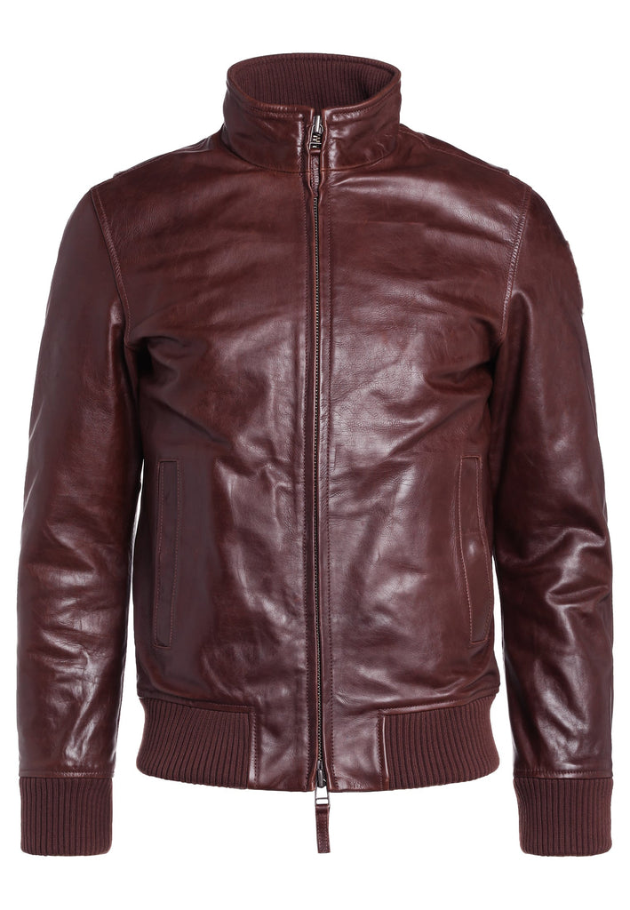 Biker Jacket - Men Real Lambskin Motorcycle Leather Biker Jacket KM265 - Koza Leathers