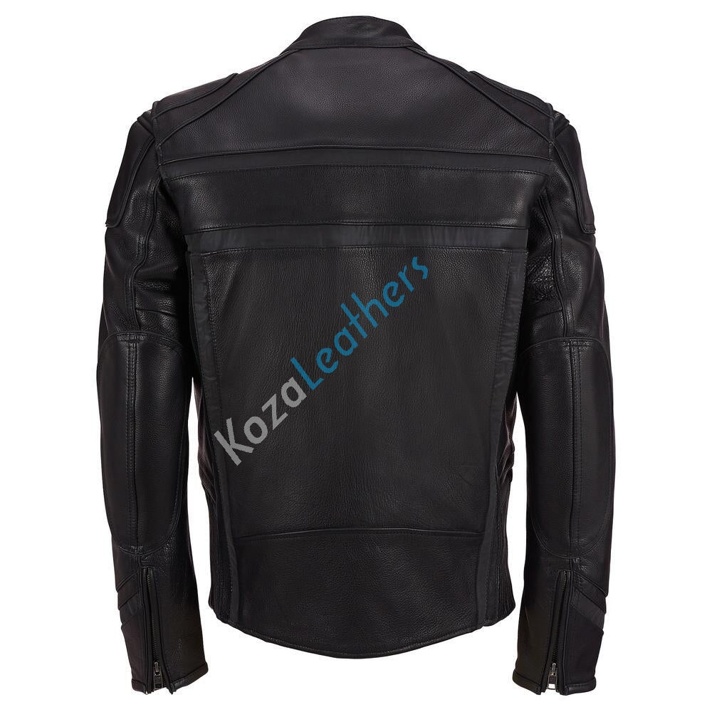 Koza Leathers Men's Genuine Lambskin Bomber Leather Jacket NJ022