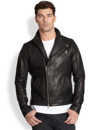 Biker Jacket - Men Real Lambskin Leather Jacket KM139 - Koza Leathers