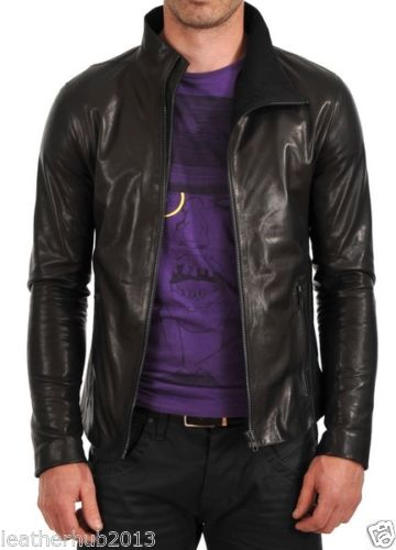 Biker Jacket - Men Real Lambskin Leather Jacket KM140 - Koza Leathers