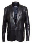 Leather Blazer - Men Real Sheepskin Leather Blazer KB019 - Koza Leathers