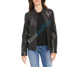 Biker / Motorcycle Jacket - Women Real Lambskin Leather Biker Jacket KW097 - Koza Leathers