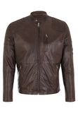 Biker Jacket - Men Real Lambskin Motorcycle Leather Biker Jacket KM231 - Koza Leathers